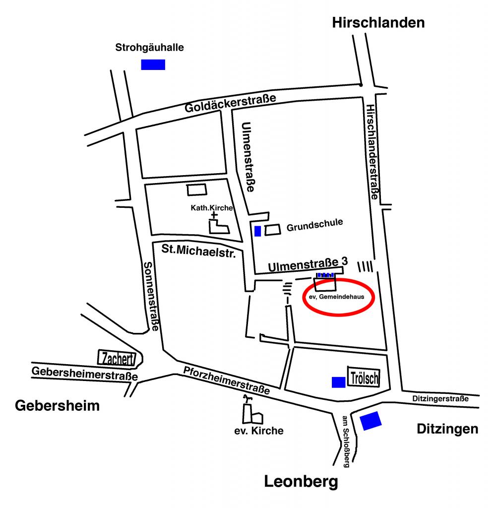 Anfahrtsskizze Chor Höfingen