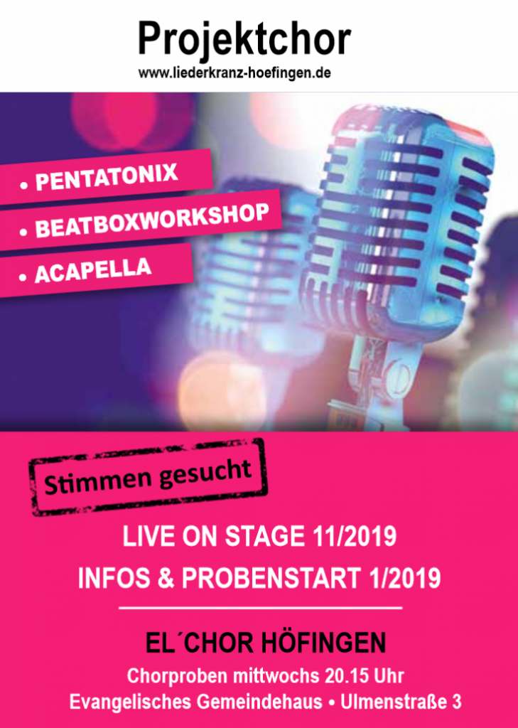 Chorprojekt Pentatonix, Beatboxworkshop & Acapella