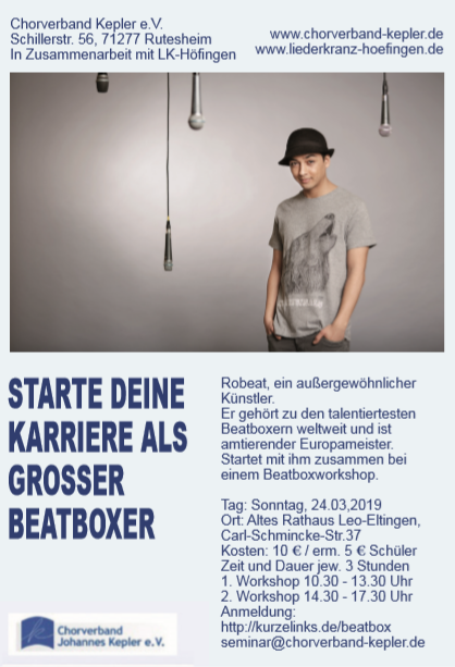 Beatboxworkshop mit Robeat Leonberg 2